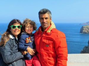 Family view from top of the cliff. North East Atlantic